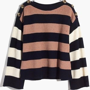Madewell Calloway Boatneck Sweater, NWT Xs
